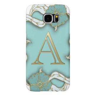 Best Alphabet Letter Initial Monogram Background Samsung Galaxy S6 Cases