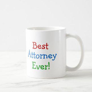 Best Attorney ever Basic White Mug