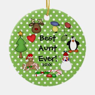 Best Aunt Ever Christmas Ornament