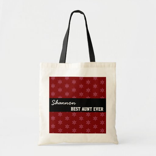 Best Aunt Ever Custom Name Geo Pattern Template Canvas Bag