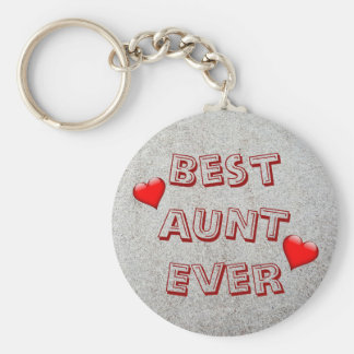 Best aunt ever | Sand texture photo Key Ring