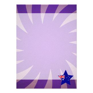 Best Australia Flag Design 13 Cm X 18 Cm Invitation Card