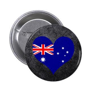 Best Australian Heart flag 6 Cm Round Badge