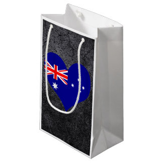 Best Australian Heart flag Small Gift Bag