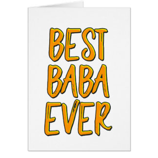 Best baba ever card