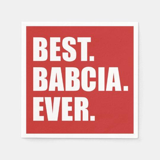 Best Babcia Ever Polish Grandmother Paper Napkin