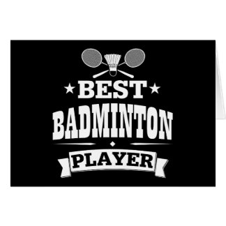 Best Badminton Player Card