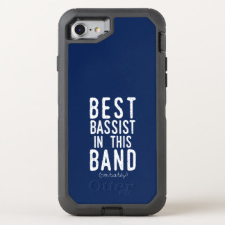 Best Bassist (probably) (wht) OtterBox Defender iPhone 8/7 Case