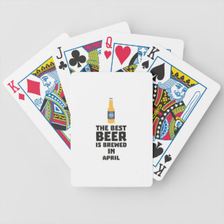 Best Beer is brewed in April Z86r8 Bicycle Playing Cards