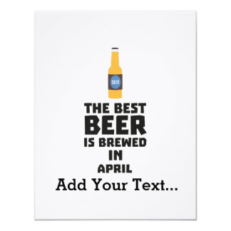 Best Beer is brewed in April Z86r8 Card