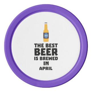 Best Beer is brewed in April Z86r8 Poker Chips