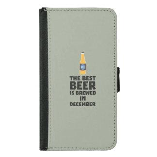 Best Beer is brewed in December Zfq4u Samsung Galaxy S5 Wallet Case