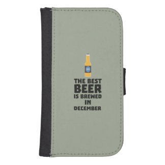 Best Beer is brewed in December Zfq4u Samsung S4 Wallet Case
