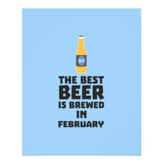 Best Beer is brewed in February Z4i8g 11.5 Cm X 14 Cm Flyer