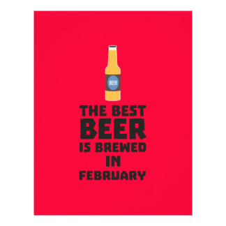 Best Beer is brewed in February Z4i8g 21.5 Cm X 28 Cm Flyer