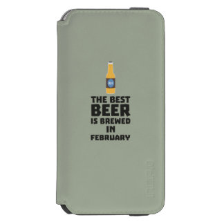 Best Beer is brewed in February Z4i8g Incipio Watson™ iPhone 6 Wallet Case