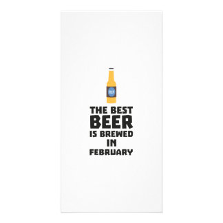 Best Beer is brewed in February Z4i8g Personalized Photo Card