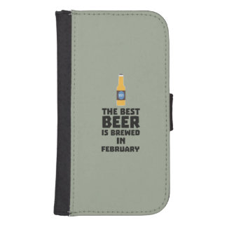 Best Beer is brewed in February Z4i8g Samsung S4 Wallet Case