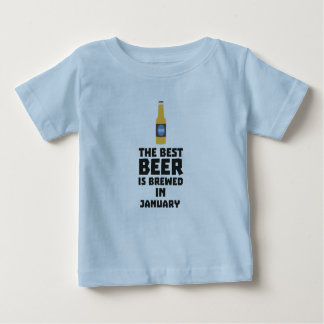 Best Beer is brewed in January Zxe8k Baby T-Shirt