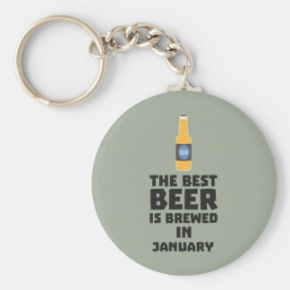 Best Beer is brewed in January Zxe8k Basic Round Button Key Ring
