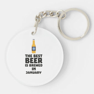 Best Beer is brewed in January Zxe8k Key Ring