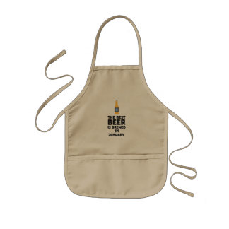 Best Beer is brewed in January Zxe8k Kids Apron