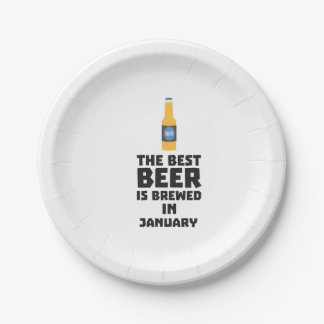 Best Beer is brewed in January Zxe8k Paper Plate