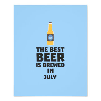 Best Beer is brewed in July Z4kf3 11.5 Cm X 14 Cm Flyer