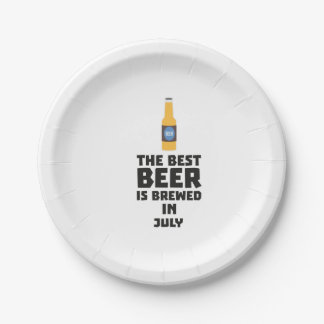 Best Beer is brewed in July Z4kf3 Paper Plate