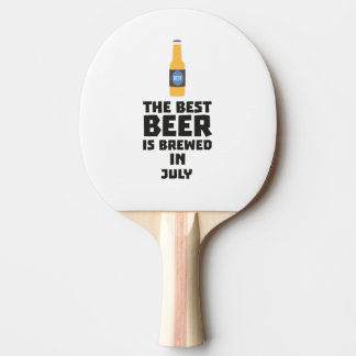 Best Beer is brewed in July Z4kf3 Ping Pong Paddle