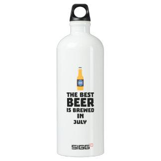 Best Beer is brewed in July Z4kf3 Water Bottle