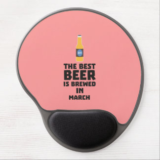 Best Beer is brewed in March Zp9fl Gel Mouse Pad