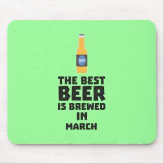 Best Beer is brewed in March Zp9fl Mouse Pad