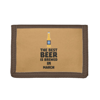 Best Beer is brewed in March Zp9fl Tri-fold Wallet