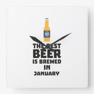 Best Beer is brewed in May Z96o7 Square Wall Clock