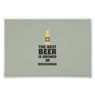 Best Beer is brewed in November Zk446 Art Photo