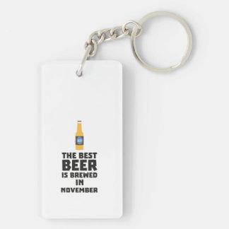 Best Beer is brewed in November Zk446 Key Ring