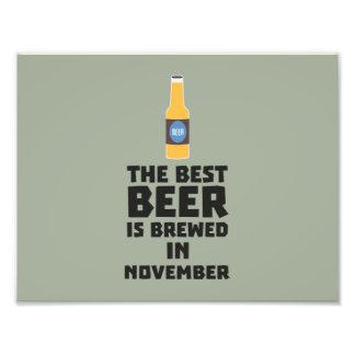 Best Beer is brewed in November Zk446 Photo Print