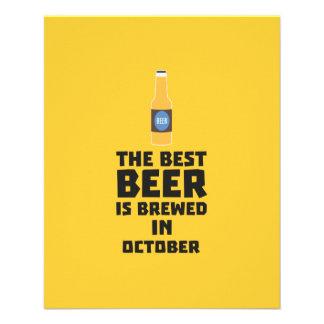 Best Beer is brewed in October Z5k5z 11.5 Cm X 14 Cm Flyer