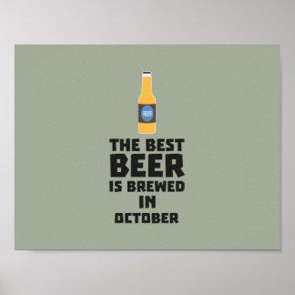 Best Beer is brewed in October Z5k5z Poster