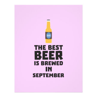Best Beer is brewed in September Z40jz 21.5 Cm X 28 Cm Flyer