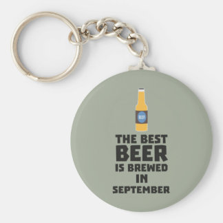 Best Beer is brewed in September Z40jz Key Ring