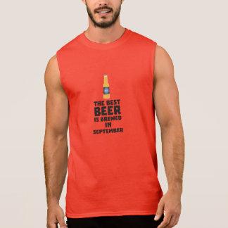 Best Beer is brewed in September Z40jz Sleeveless Shirt