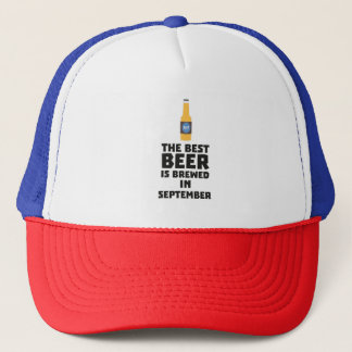 Best Beer is brewed in September Z40jz Trucker Hat