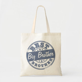 Best Big Brother - rubber stamp effect - Budget Tote Bag