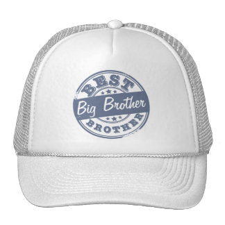 Best Big Brother - rubber stamp effect - Mesh Hat