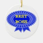 Best Boss Award Christmas Tree Ornament