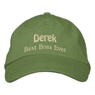 Best Boss Custom Name CACTUS with YELLOW V07 Embroidered Cap