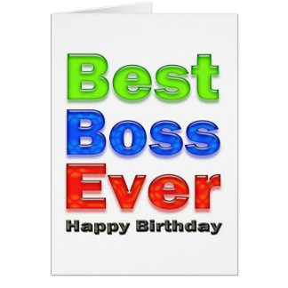 Best Boss Ever Birthday Card for Your Boss