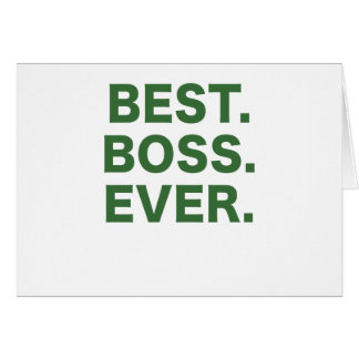 Best Boss Ever Greeting Card